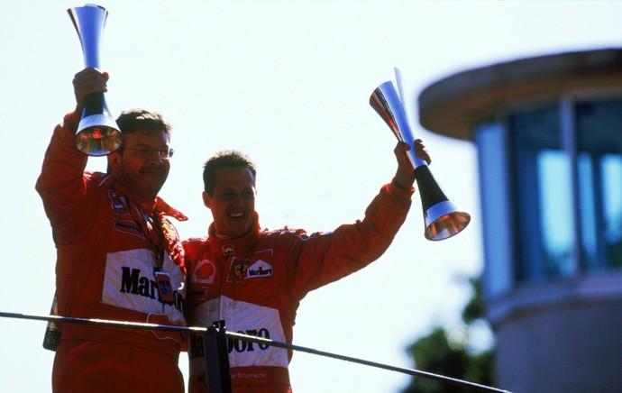 Sucesso na Ferrari e na Benetton, parceria entre Ross Brawn e Michael Schumacher não funcionou na Mercedes (Foto: Getty Images)