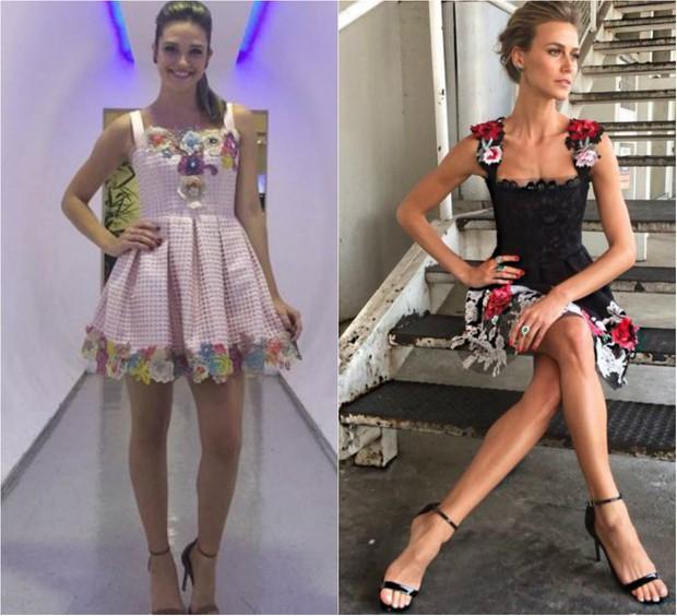Juliana Paiva e Renata Kuerten apostam em vestidos retrô com saia em A (Foto: Reprodução do Instagram)