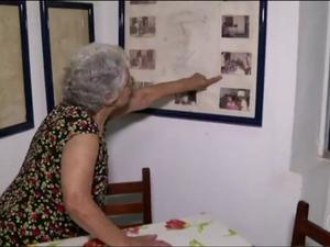 Restaurante da dona Adolphina está mais movimentado com as filmagens em Ipiabas (Foto: TV Rio Sul/Reprodução)