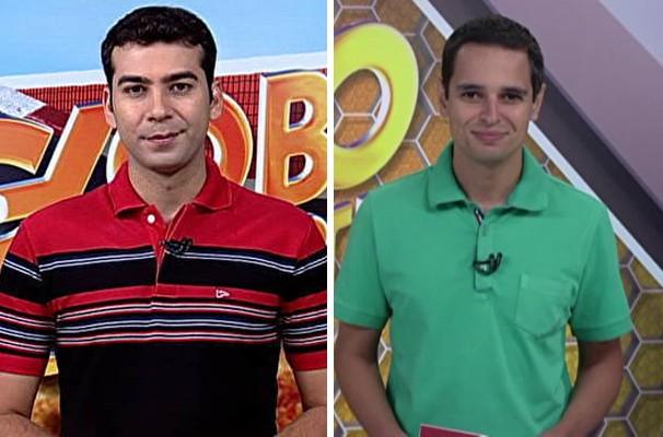 Os apresentadores Rogério Simões e Inácio Novaes (Foto: Reprodução | TV Integração)