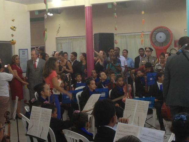 Ministro Lewandowski esteve em Palmas para inauguração de centro de educação infantil (Foto: Marcos Martins/G1 Tocantins)