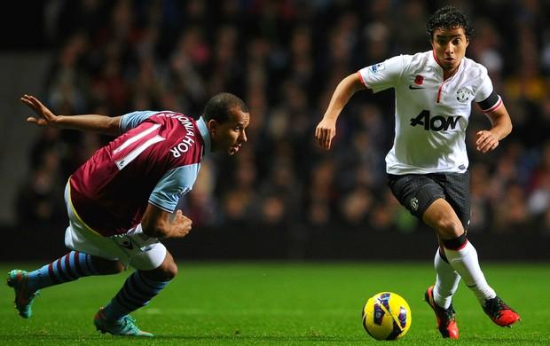 Rafael Agbonlahor Manchester United Aston Villa (Foto: Getty Images)