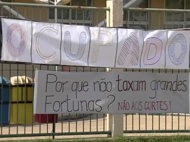 Campus do IFG em Aparecida de Goiânia, Goiás (Foto: Reprodução/ TV Anhanguera)