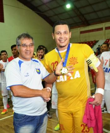 João Paulo, goleiro do Big Bran (Foto: Adelcimar Carvalho)