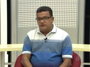 Bode Queiroga, prefeito de Laranjal do Jari (Foto: Reprodução/Rede Amazônica)