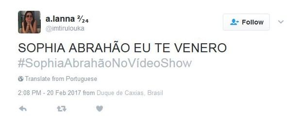 Estreia de Sophia Abrahão no Vídeo Show repercute na web (Foto: Instagram / Reprodução)