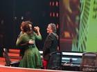 Ivete Sangalo e Dinho Ouro Preto dançam forró juntinhos e mostram gingado no palco do SuperStar