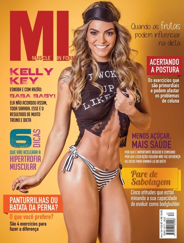 Kelly Key (Foto: Revista Muscle in Form )