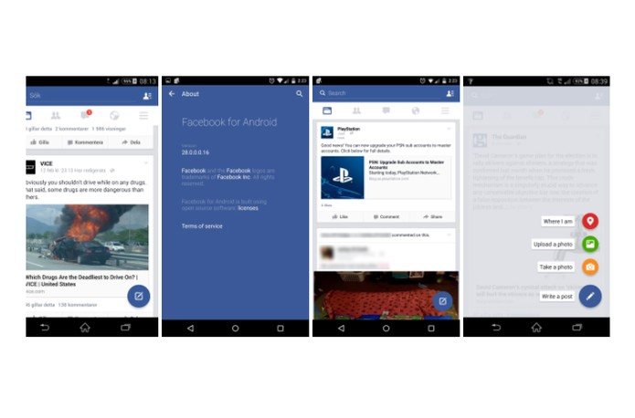 Facebook pode estar testando botão inspirado no Material Design do Google (Foto: Reprodução/Android Police)