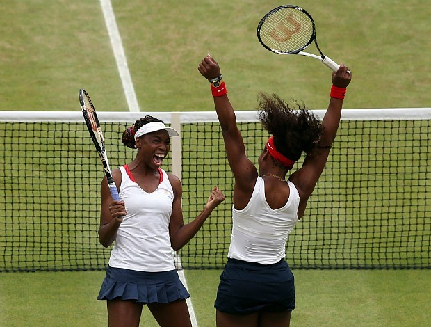 Venus Serena Williams t&#234;nis final dupla Olimp&#237;adas 2012 (Foto: Getty Images)