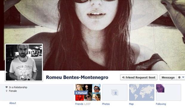 Romeu Montenegro, namorado de Antonia Morais (Foto: Facebook/Reprodução)