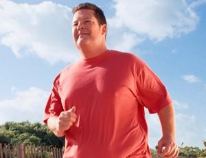 homem gordo correndo corrida de rua (Foto: Getty Images)