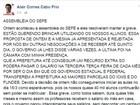 Alair Corrêa diz que professores agem com 'pirraça e maldade'
