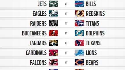 b256d8e963650 Confira a tabela de jogos da temporada 2017 18 da NFL