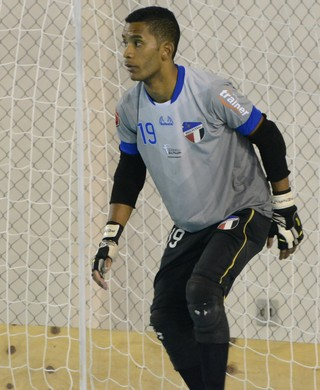 Sinhá goleiro Grêmio Mogi Futsal (Foto: Bruno Rocha)