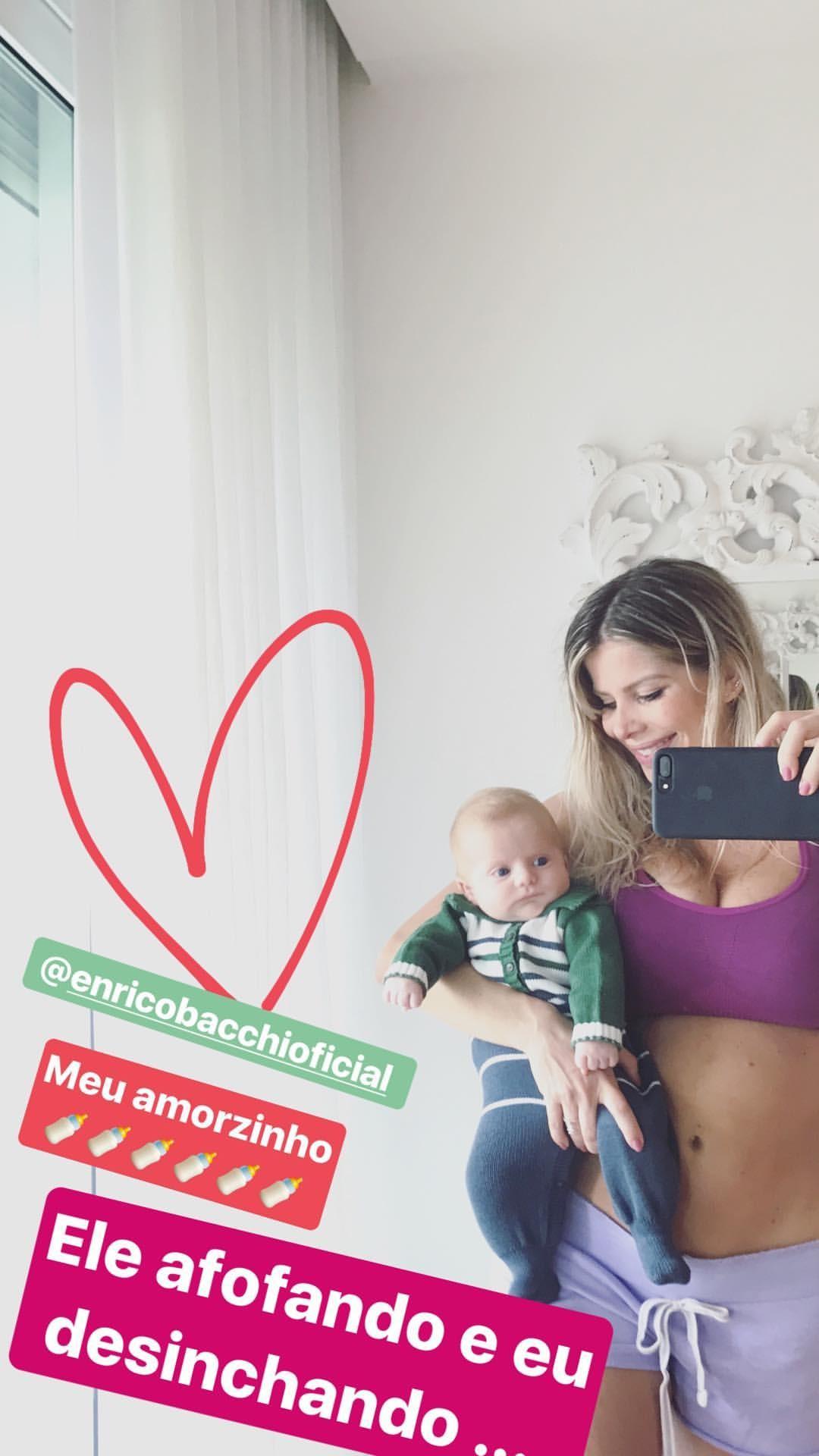 Karina Bacchi e Enrico (Foto: Reprodução/Instagram)