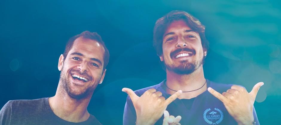 Gabriel Pastori e Marcelo Trekinho vão comandar o Bateria Zero e o Offline, no canal do OFF no YouTube, direto do Havaí