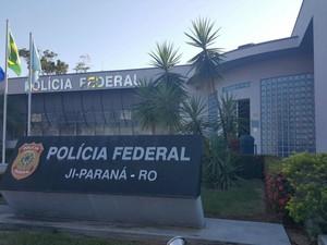 Sede da Polícia Federal em Ji-Paraná, RO (Foto: Pâmela Fernandes/G1)