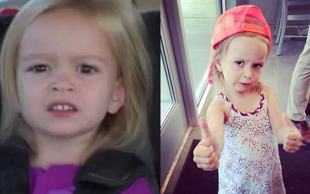 A expressão que a menina Chloe, de 3 anos, fez ao descobrir que iria para a Disney em 2013 ganhou a internet. Hoje, aos 6, ela é rainha do Instagram e dos GIFs (Foto: Reprodução/ Youtube e Instagram)