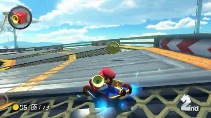 Um dos novos itens de Mario Kart 8 (Foto: Reprodução/Murilo Molina)