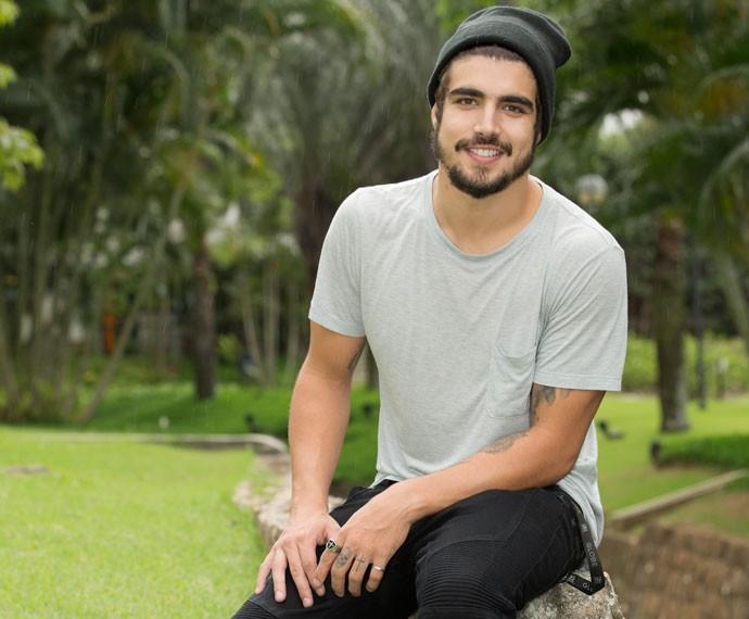 Caio Castro está radiante com a repercussão de Grego (Foto: Felipe Monteiro/Gshow)