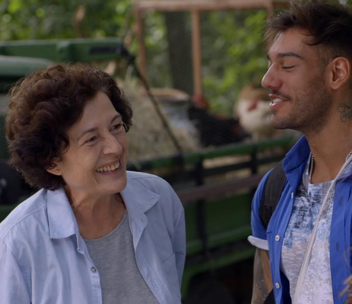 Na trama, Marilu é tia de Uodson (Foto: TV Globo)