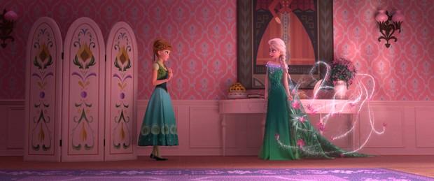 Elsa e Anna em novo curta 'Frozen: Febre congelante' (Foto: Divulgação/Disney)