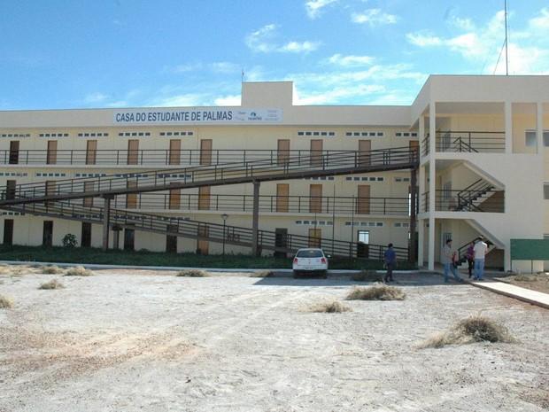 Casa do estudante de Palmas na época da inauguração, em 2008 (Foto: Divulgação/ATN)