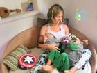 Bárbara Borges mostra o dia a dia de mãe: 'Cena da vida real!'
