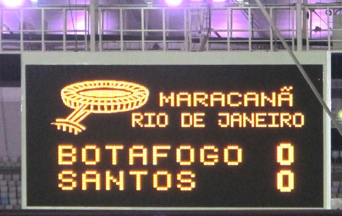 Placar Maracanã, Botafogo X Santos (Foto: Gustavo Rotstein)