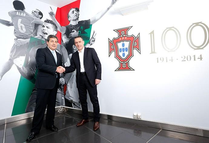 Renovação Paulo Bento 2014 Portugal (Foto: Reprodução / Federação Portuguesa de Futebol)