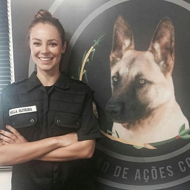 Paolla Oliveira em preparação para viver policial na novela A Força do Querer (Foto: Reprodução/Instagram)