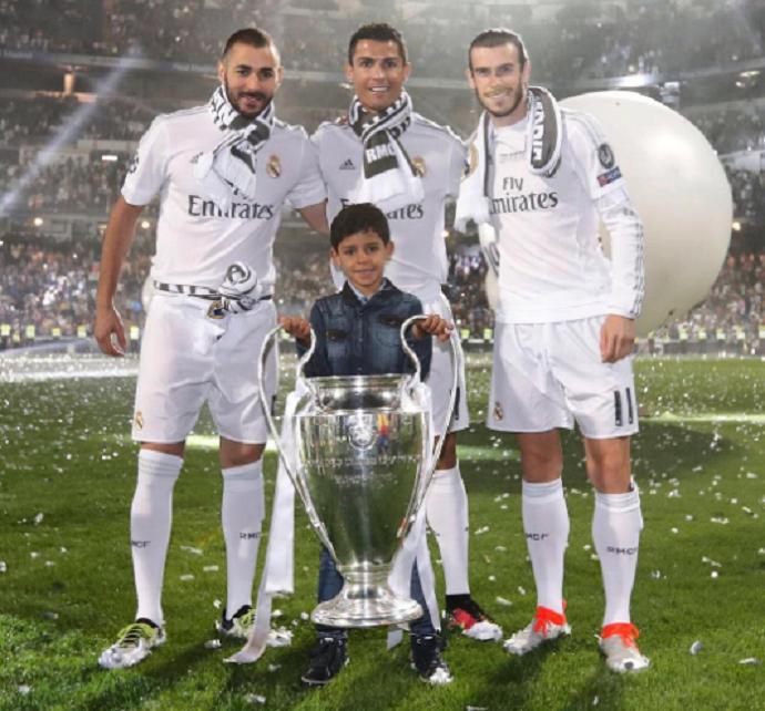 Cristiano Ronaldo Real Madrid Benzema Bale (Foto: Reprodução/Instagram)