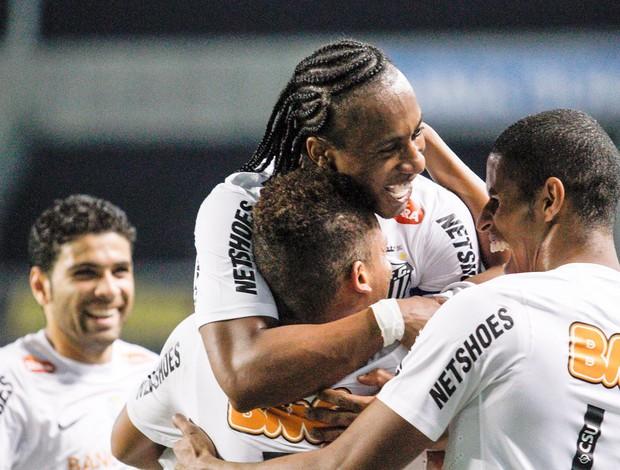 Arouca e André, Botafogo e Santos (Foto: Rudy Trindade / Agência Estado)