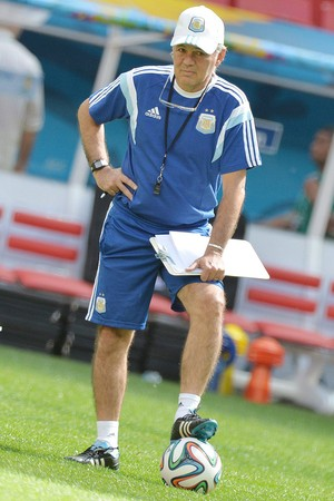 Sabella, treino Argentina (Foto: EFE)