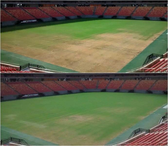 Em três dias, gramado da Arena da Amazônia mostra piora (Foto: Divulgação)