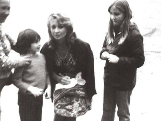 Eva Wilma com a irmã de Walter, Regiane.