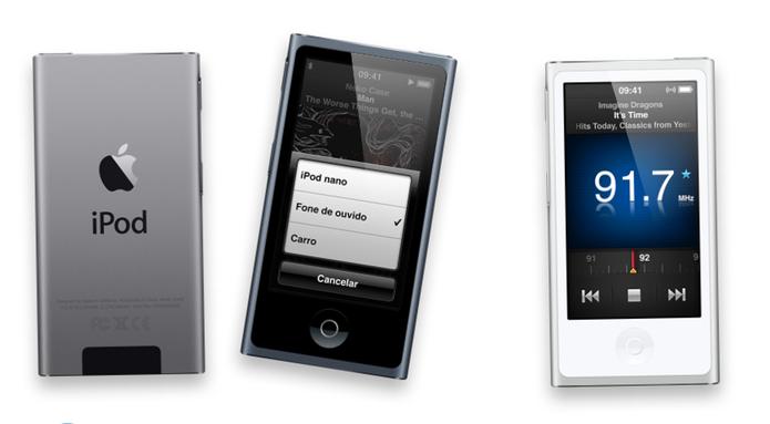 iPod Nano tem funções mais avançadas para fitness e armazenamento de 16 GB (Foto: Divulgação/Apple)
