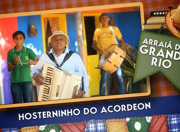 Hosterninho do Acordeon é atração do Arraiá do Grande Rio no dia 18 de junho (Foto: Reprodução/TV Grande Rio)