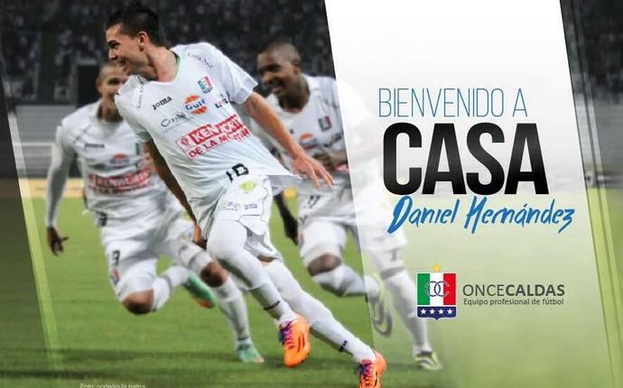 Daniel Hernández Atlético-PR (Foto: Once Caldas/Divulgação)
