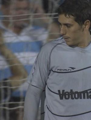 Diego Lima, goleiro do Santa Cruz (Foto: Reprodução / TV Globo)