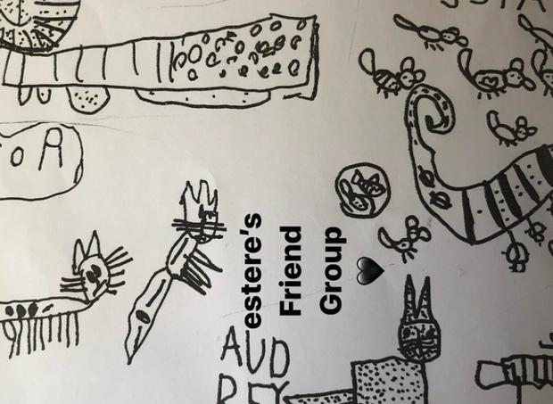 Desenho feito pelas filhas de Madonna foi compartilhado online  (Foto: reprodução/Instagram)