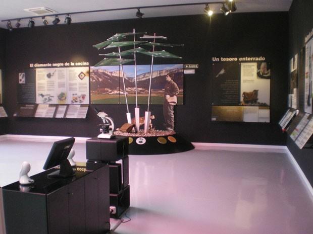 Uma das salas do Museu da Trufa, na Espanha (Foto: Divulgação/Museo de la Trufa)