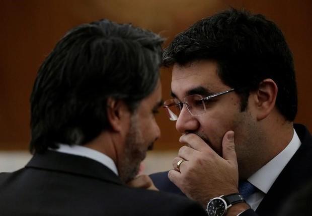 Advogado Gustavo Guedes, durante julgamento no TSE (Foto: Ueslei Marcelino/REUTERS)