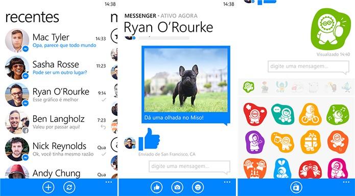 Facebook Messenger é totalmente integrado com a rede social e oferece bastantes funções no Windows Phone (Foto: Divulgação/Windows Phone Store)