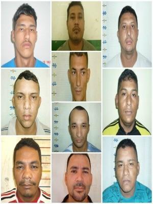 Fotos de foragidos de presídio em Manaus (Foto: Divulgação/Polícia Militar)