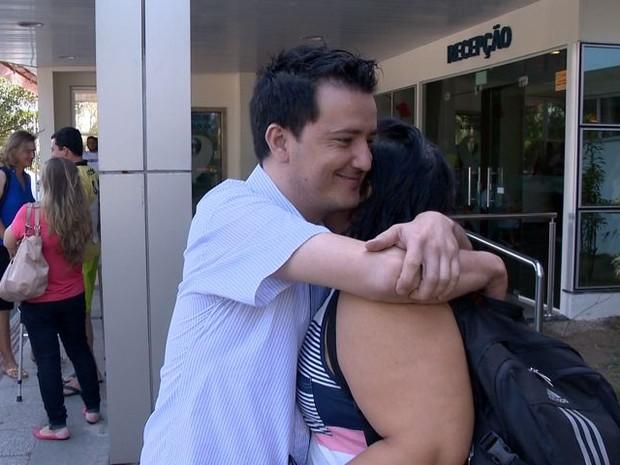 Homem com coração invertido passa por exames no Espírito Santo (Foto: Reprodução/ TV Gazeta)