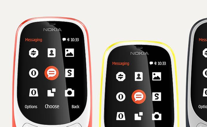 3b1985e913f Nokia traz de volta  tijolão  3310 e lança mais três celulares ...