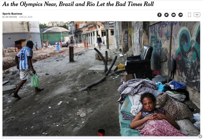 Matéria New York Times Jogos Olímpicos (Foto: Reprodução)