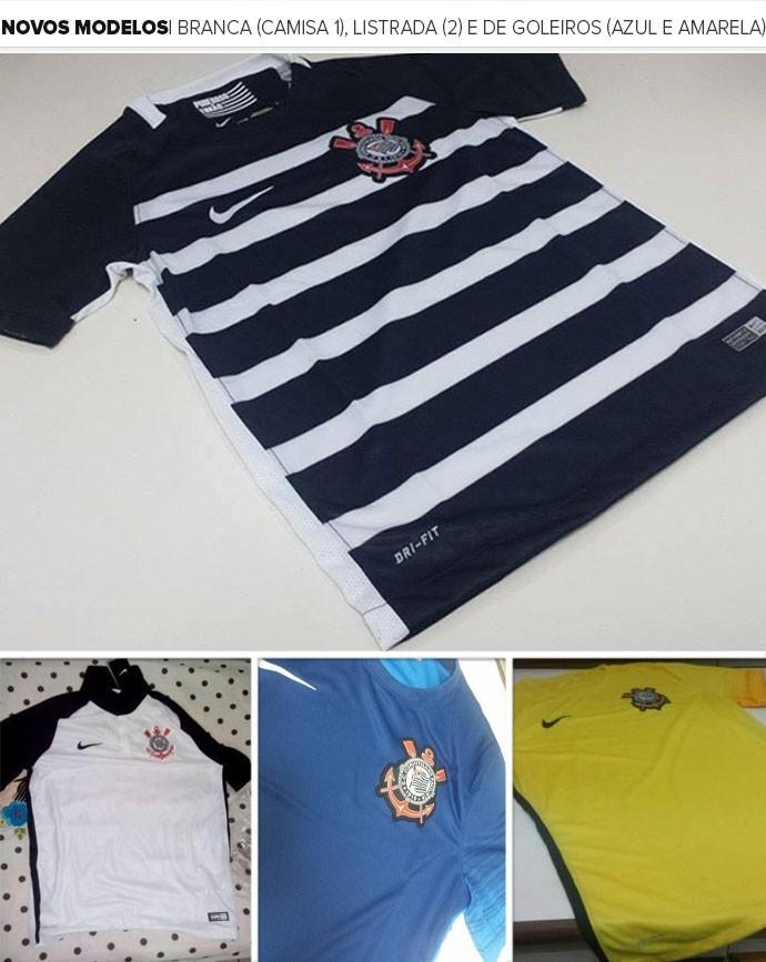 Fornecedora adia lançamento das novas camisas 1 e 2 do Corinthians 431bb85b940ba